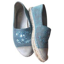 Chanel-Espadrilles-Light blue