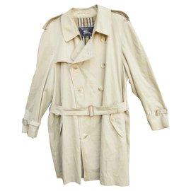 Burberry-trench Burberry vintage taille 56-Blanc cassé