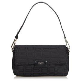 Balenciaga-Balenciaga Black Nylon Shoulder Bag-Black
