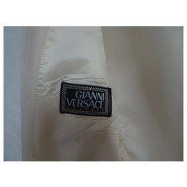 Gianni Versace-Gianni Versace Couture blazer en coton-Crème