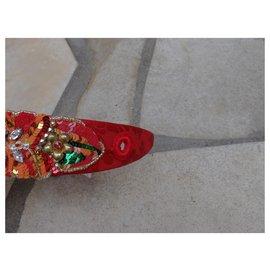 Dolce & Gabbana-Accessoires pour cheveux-Rouge,Multicolore