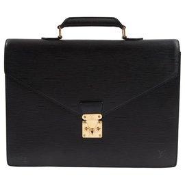 Louis Vuitton-Louis Vuitton - Cartable Monceau - Vintage-Noir