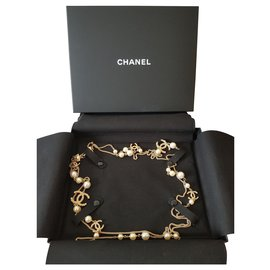 Chanel-Collier Chanel neuf-Doré