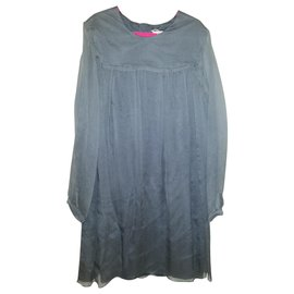 Chloé-Chloe Dress 8 years old, very classy chic!-Silvery,Grey