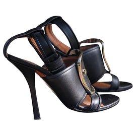 Givenchy-Givenchy Sandale mit Absatz und Absatz-Schwarz,Silber