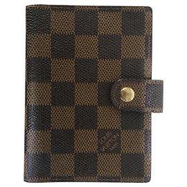 Louis Vuitton-Notebooktasche mit 1 Bleistift nach innen-Hellbraun,Dunkelbraun