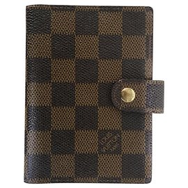 Louis Vuitton-Notebook case with 1 pencil inside-Light brown,Dark brown