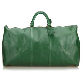 Louis Vuitton-Louis Vuitton Green Epi Keepall 60-Vert