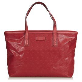Gucci-Sac cabas Gucci Red GG Imprime-Rouge