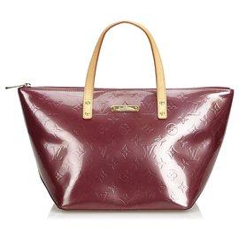 Louis Vuitton-Sac à main Louis Vuitton Violet Vernis Bellevue PM-Marron,Beige,Autre,Violet
