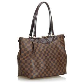 Louis Vuitton-Louis Vuitton Brown Damier Ebene Westminster PM-Marron