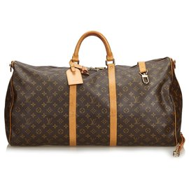 Louis Vuitton-Bandoulière Keepall Louis Vuitton Monogram Marron 60-Marron
