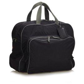 Prada-Prada - Sac de sport en tissu noir-Noir,Gris
