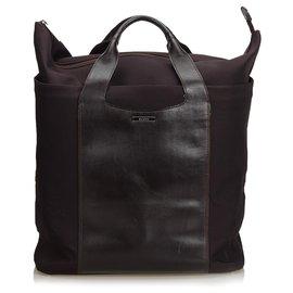 Gucci-Sac cabas en toile noire Gucci-Noir