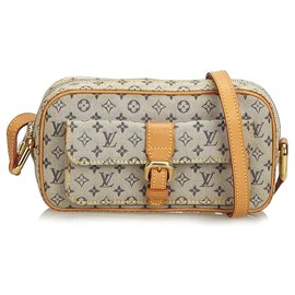 Louis Vuitton-Louis Vuitton Mini Lin Juliette Gris-Bleu,Gris