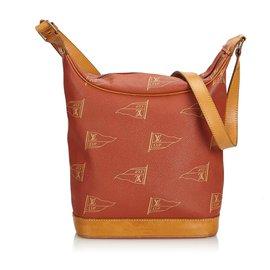 Louis Vuitton-Louis Vuitton Brown 2925 Sac Touquet Coupe Amériques-Marron,Marron clair