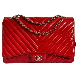 Chanel-Maxi red chevron-Red