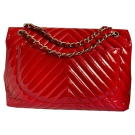 Chanel-Maxi chevron rouge-Rouge