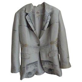 Hermès-Veste habillée-Gris