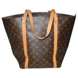 Louis Vuitton-Louis Vuitton large canvas tote monogram brown-Brown