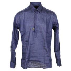 Fendi-Fendi shirt nouveau-Bleu