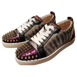 Christian Louboutin-Christian Louboutin lace up spiked sneakers EU37-Other
