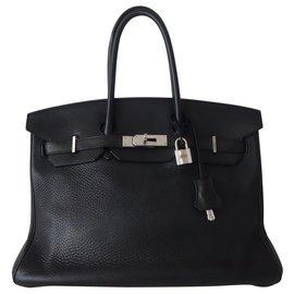Hermès-SAC HERMES BIRKIN 35 NOIR-Noir