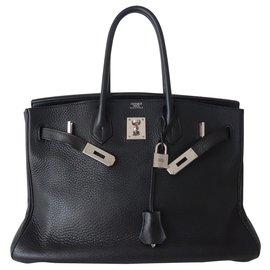 Hermès-HERMES BIRKIN BAG 35 black-Black