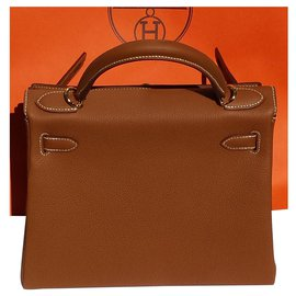 Hermès-hermes kelly 28cms, Brand new, Gold Togo leather with Gold Hadware-Beige