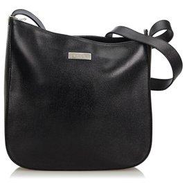 dda70dbf9495 Céline-Celine Sac à bandoulière en cuir noir-Noir ...