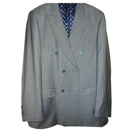 Autre Marque-ZILLI PARIS  DOUBLE BREASTED JACKET BLAZER-Grey
