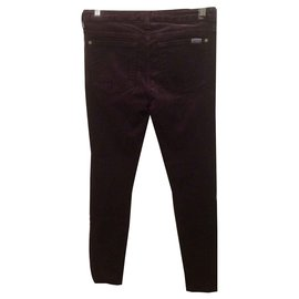 7 For All Mankind-The Skinny-Dark red