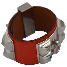 Hermès-dog collar-Orange