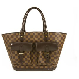 4712400bdc3 Louis Vuitton-LOUIS VUITTON Damier Ebene Toile et Cuir Manosque GM avec  mini sac- ...