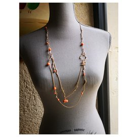 Chanel-Long necklaces-Pink,Golden