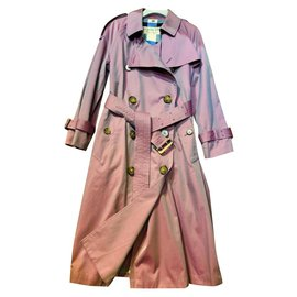 Burberry-Burberry Lavender Iridescent Trench Coat UK6-Lavender