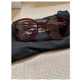 Chanel-Sunglasses-Dark red