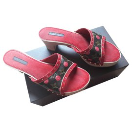 dc102fe3ecf Louis Vuitton-Clogs LV Monogram Takashi Murakami Cherries-Multiple colors  ...