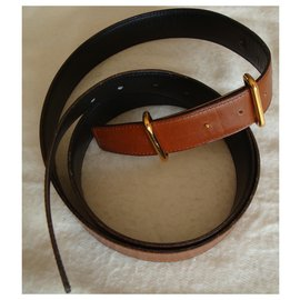 Hermès-Hermes Belt-Caramel