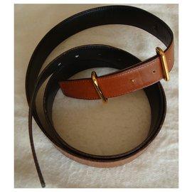 Hermès-Cinto de Hermes-Caramelo