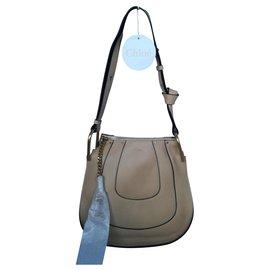 Chloé-Chloé bag HAYLEY HOBO-Beige