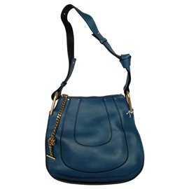 Chloé-Chloé bag HAYLEY HOBO-Blue,Navy blue,Dark blue