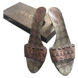 Gucci-Mules-Marron clair
