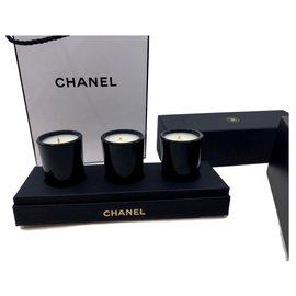Chanel-bougies chanel-Noir,Blanc