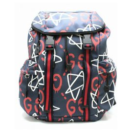 Gucci-GUCCI GHOST NEW BACKPACK-Blue,Multiple colors