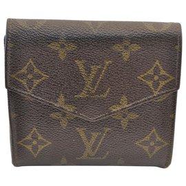 Louis Vuitton-Porte monnaie louis Vuitton-Marron