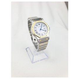 Cartier-Cartier Santos Achteckiges großes Modell-Silber,Golden
