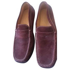 Tod's-Loafers Slip ons-Dark red