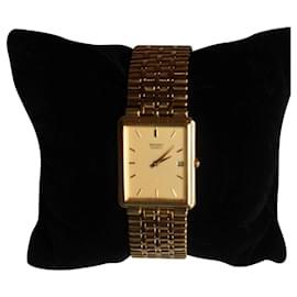 Autre Marque-montre + bracelet en acier inoxydable plaqué or SEIKO-Jaune