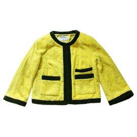 Chanel-Collectionneurs Rare Vintage Chanel Jacket-Jaune
